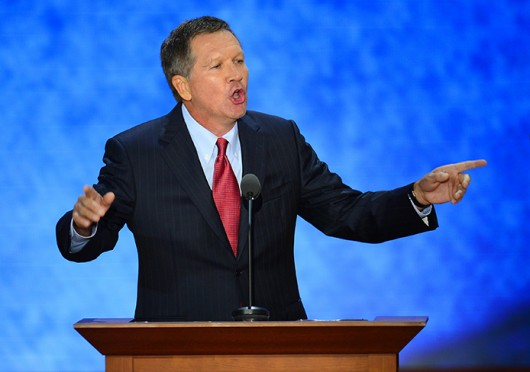 Ohio Gov. John Kasich speaks at the Republican National Convention in Tampa, Fla., Aug. 28, 2012. Credit: Courtesy of MCT