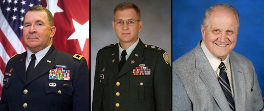 From left: Retired Maj. Gen. Tod Carmony,  retired Col. Mark Storer and Capt. Jim Houston, Sr., are set to be inducted into the OSU Army ROTC Alumni Society's Hall of Fame. Credit: Courtesy of Doug Huber