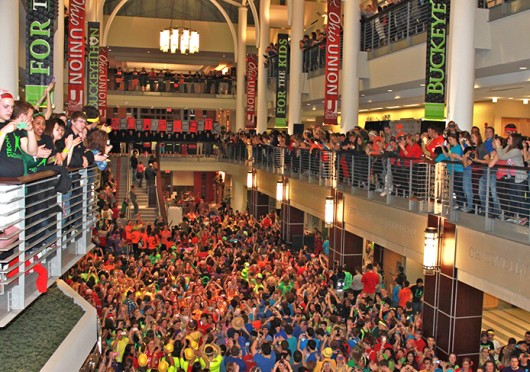 Participants in BuckeyeThon 2013 at the Ohio Union. Credit: Ryan Robey / For The Lantern