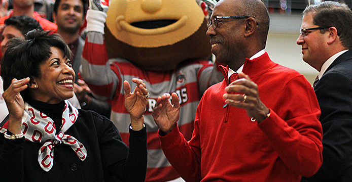 Ohio State President Michael Drake talks about staying connected with the community