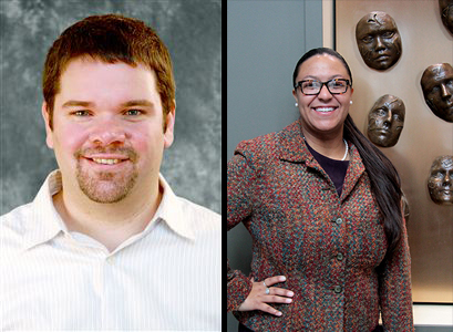 Ryan Lovell (left) was named senior director for Parent and Family and Greek Life. Sharrell Hassell-Goodman was named director of Sorority and Fraternity Life. Credit: Courtesy of OSU