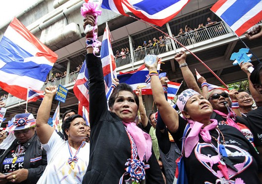 Anti-government protesters rally in Bangkok Feb. 26. Credit: Courtesy of MCT