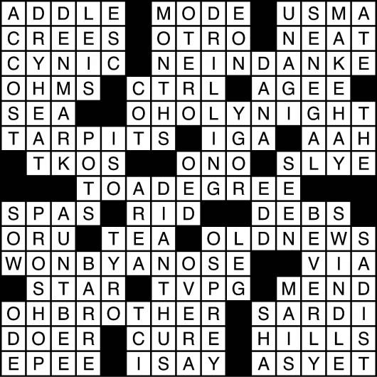 crosswordsolutions