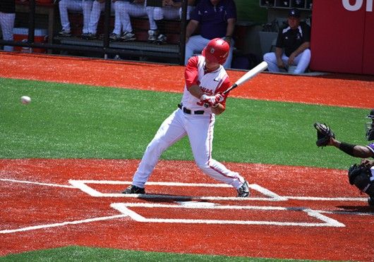 Then-sophomore outfielder Tim Wetzel (31) attempts to hit the ball during a game against Northwestern May 6, 2012, at Bill Davis Stadium. OSU won, 6-2.