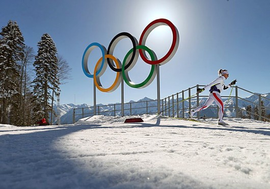 An athlete skis during a training session of cross-country skiers Feb. 4 in Sochi, Russia. Courtesy of MCT