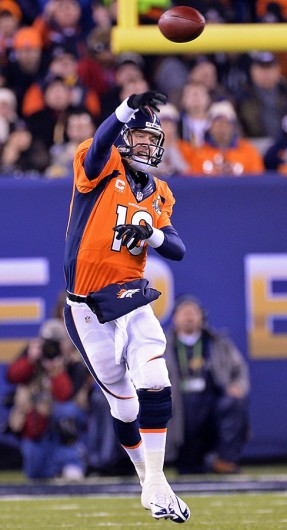 Denver Broncos' quarterback Peyton Manning throws the ball during Super Bowl XLVIII against the Seattle Seahawks Feb. 2 at MetLife Stadium. Seattle won, 43-8. Courtesy of MCT