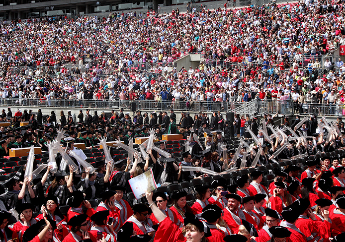 OSU students at the Spring Commencement ceremony May 5.