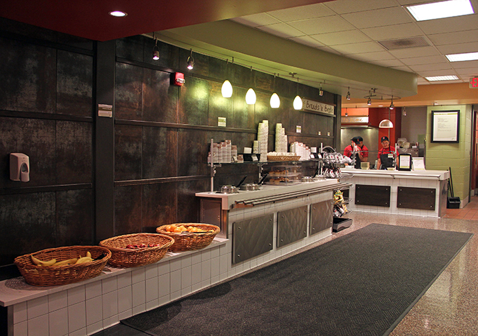 The view inside Fresh Express on North Campus.