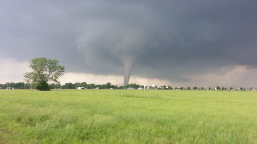 A tornado touches down in Oklahoma in spring 2013. Credit: Courtesy of John Banghoff