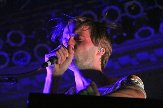 Frontman Dan Whitman of Cut Copy performs at the Newport March 26. Credit: Ritika Shah / Asst. photo editor