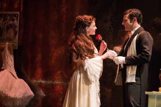 Julia Udine (left) as Christine Daaé and Ben Jacoby as Raoul in a scene from the North American tour of 'The Phantom of the Opera,' which is set to run at the Ohio Theatre March 5-16. Credit: Courtesy of Matthew Murphy