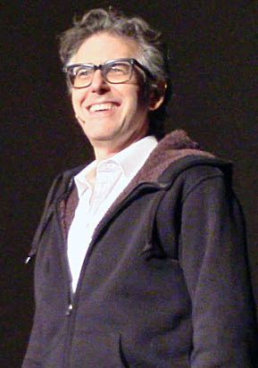 Ira Glass, host of NPR's 'This American Life,' speaks to students in the Archie M. Griffin West Ballroom during the OUAB-sponsored event 'Reinventing radio with Ira Glass' March 2.  Credit: andrea henderson / Asst. multimedia editor