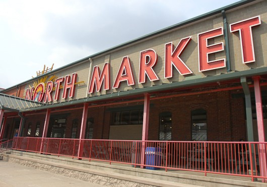 North Market and the Gateway Film Center are set to collaborate to screen films outside the North Market to create 'a classic drive-in movie environment,'  starting May 3.  Credit: Shelby Lum / Photo editor