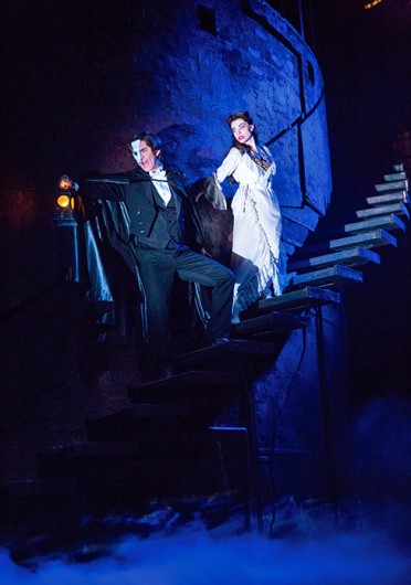 Cooper Grodin as The Phantom and Julia Udine as Christine Daaé in a scene from the North American tour of 'The Phantom of the Opera,' which is set to run at the Ohio Theatre March 5-16. Credit: Courtesy of Matthew Murphy
