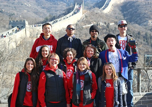 Nearly 30 OSU students involved in the performing arts went to China from March 7-17 to showcase their work for audiences.  Credit: Courtesy of Bob Eckhart