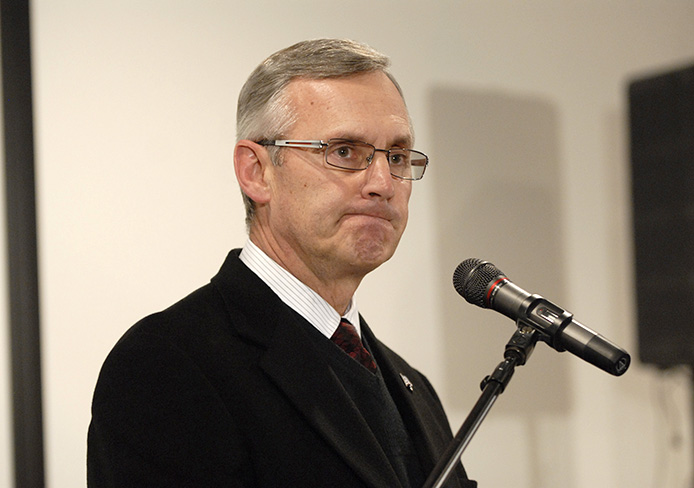 Former OSU football coach Jim Tressel was named the next president of Youngstown State University.  Credit: Lantern file photo