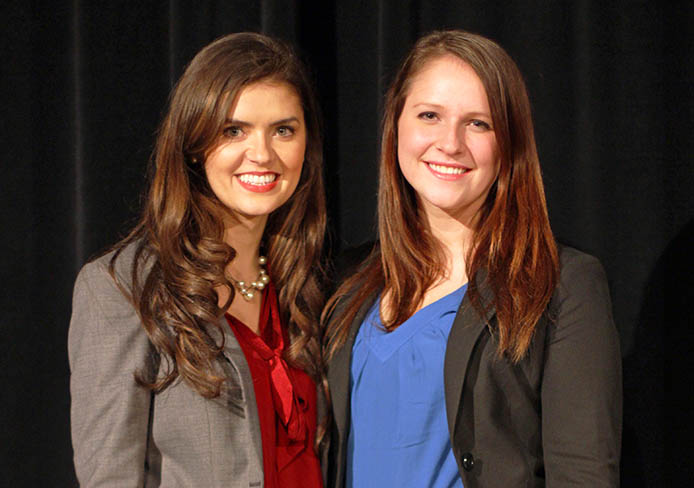 Celia Wright (left) and Leah Lacure are running for OSU USG president and vice president, respectively. Credit: Ritika Shah / Asst. photo editor