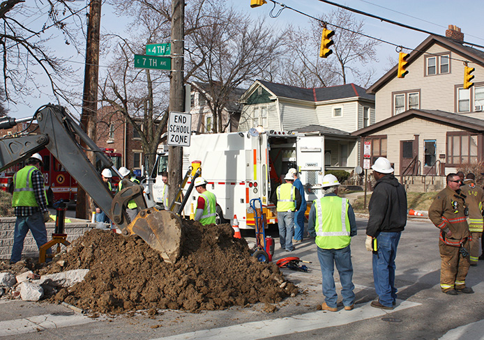 A gas leak at Schoenbaum Family Center at Weinland Park occurred March 31. Credit: Leisa DeCarlo / Lantern photographer