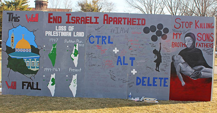 Mock Apartheid wall demonstration aims to educate Ohio State students on Israeli-Palestinian conflict