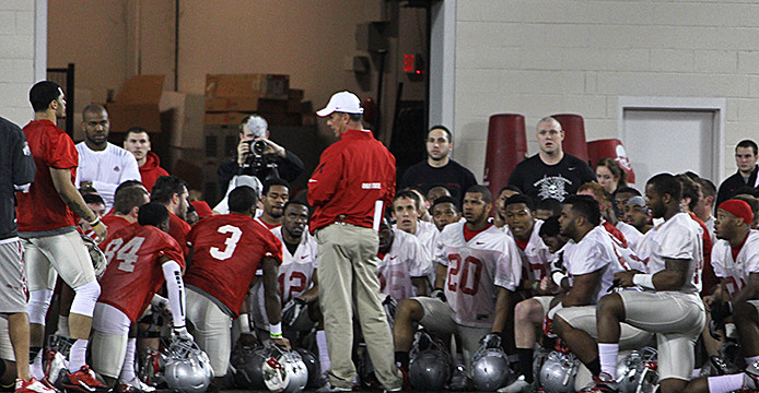 Ohio State opens spring practice; Urban Meyer on health: 'Good to go'