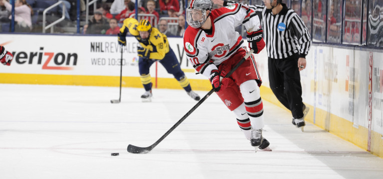 Overtime goal lifts Ohio State men's hockey past Michigan State in Big Ten Quarterfinals, 2-1