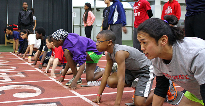 Ohio State LiFESports teams up with women's track team to offer instructional camp