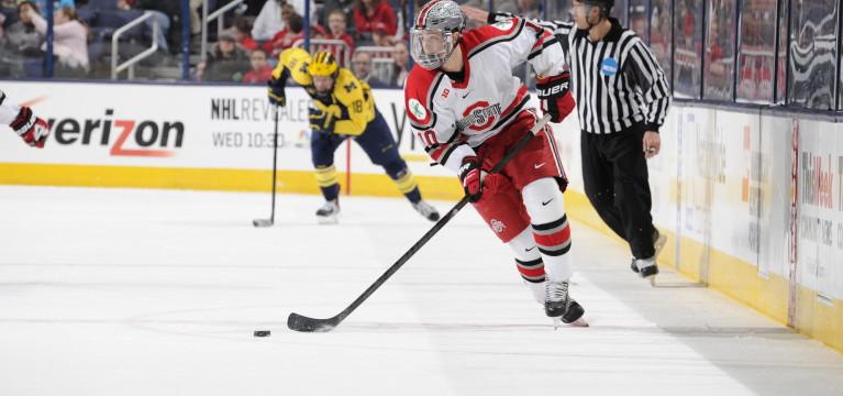 Ohio State men's hockey fall in regular season finale, split weekend series with Penn State