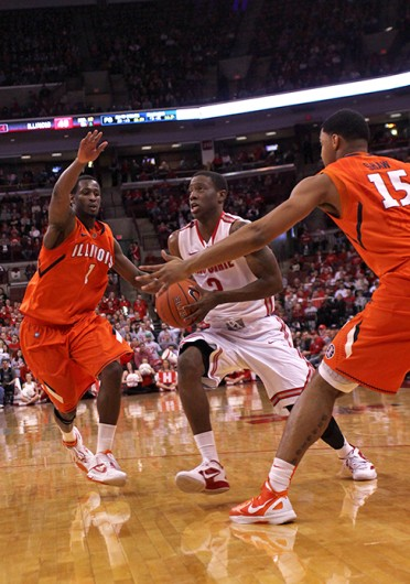 Then-OSU-sophomore guard Jordan Sibert (2) drives to the basket during a game against Illinois Feb. 21, 2012, at the Schottenstein Center. OSU won, 83-67. Lantern file photo