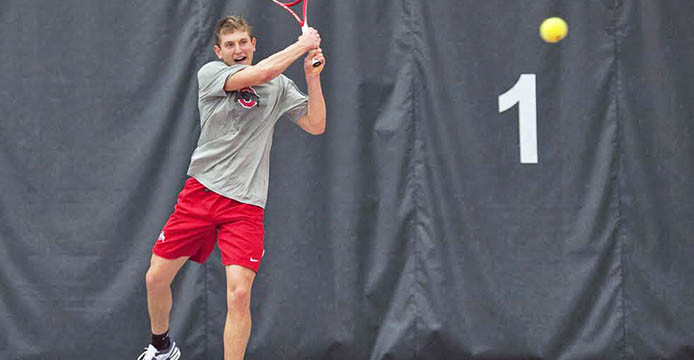 Ohio State men's tennis remains unbeaten, defeats Penn State and North Carolina