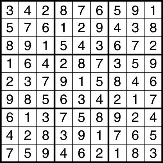 sudoku answers