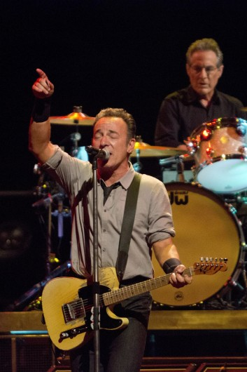 Bruce Springsteen performs with the E Street Band at Leeds Arena in  Leeds, England, July 24. Credit: Courtesy of MCT