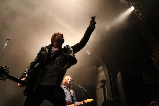 Frontman Jon Foreman of Switchfoot performs at the Newport Music Hall April 3.  Credit: Mark Batke / For The Lantern