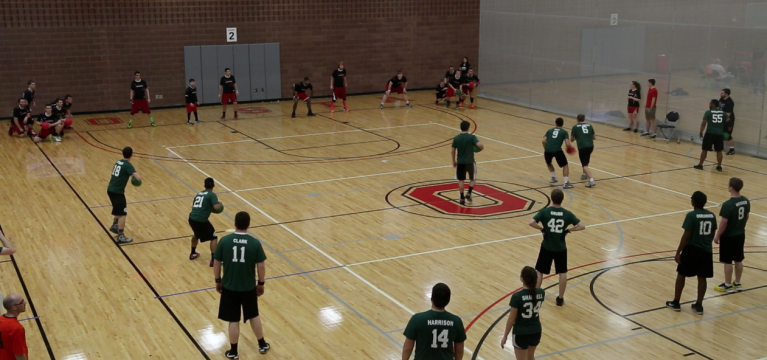 VIDEO: Ohio State hosts National Collegiate Dodgeball Association finals tournament