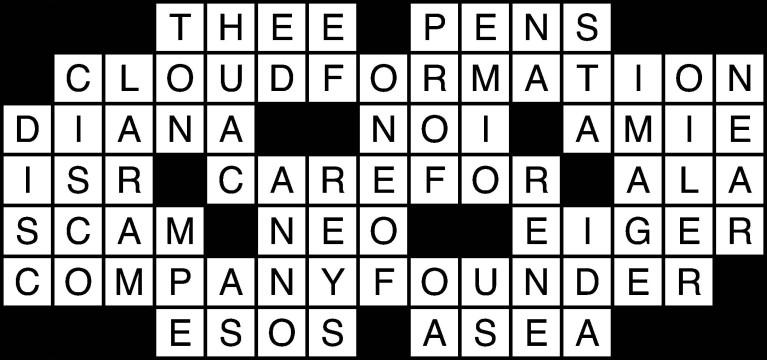 April 7 crossword solutions