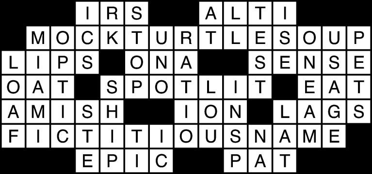 April 21 crossword solution