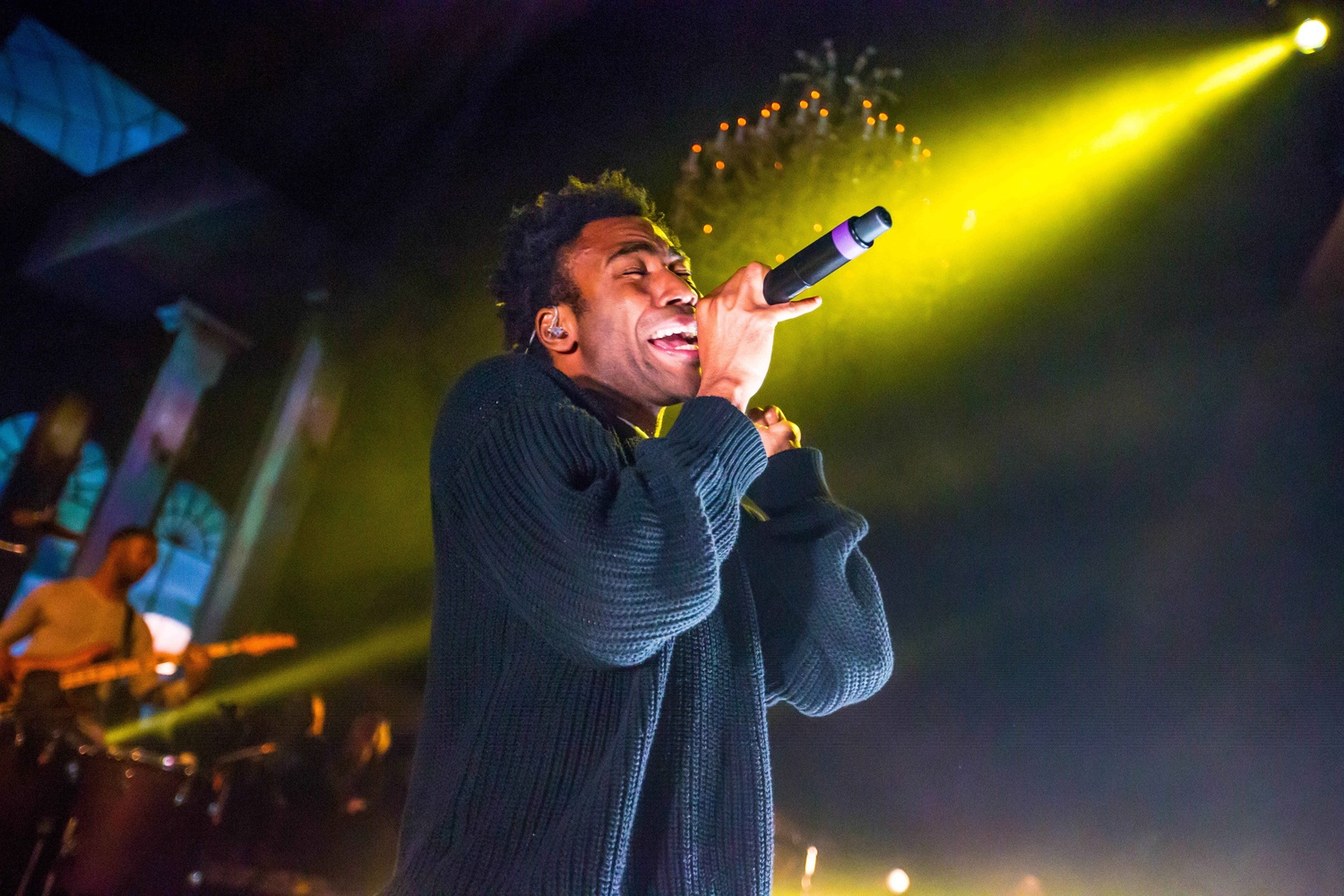 Donald Glover, also known as Childish Gambino, performs on his Deep Web Tour at The Fillmore Theatre in Detroit March 2014 Credit: Courtesy of MCT