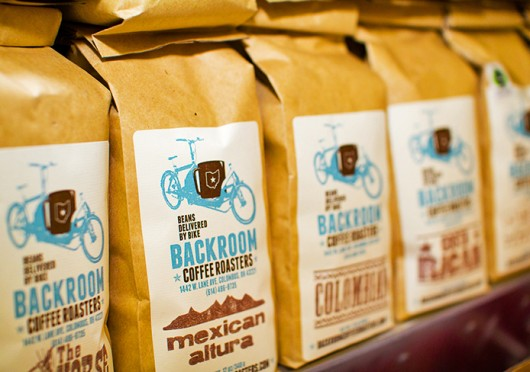 Packages of Backroom Coffee Roasters coffee. The third annual North Market Coffee Brunch Sunday is set for April 13 at the North Market.   Credit: Sheila Hunt Rossiter