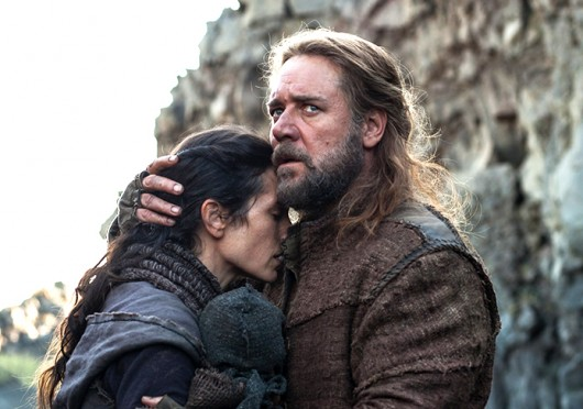 Jennifer Connelly (left) as Naameh and Russell Crowe as Noah in 'Noah,' which released nationwide March 28. Credit: Courtesy of MCT