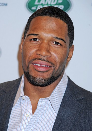 Michael Strahan attends the all-new Range Rover Sport launches at Skylight at Moynahan Station in New York March 26, 2013.  Credit: Courtesy of MCT