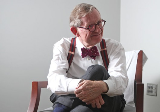 OSU President Emeritus E. Gordon Gee during an interview with The Lantern Oct. 21. Credit: Shelby Lum / Photo editor