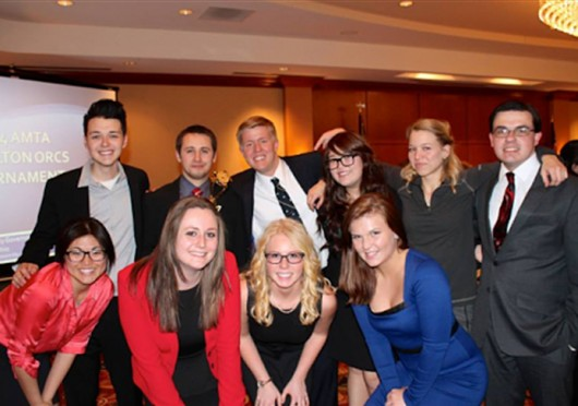 OSU's mock trial team poses for a photo. Credit: Courtesy of Rachel Cohen