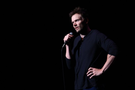 Joel McHale, host of 'The Soup' on E! and actor on NBC's 'Community,' stopped by the Archie Griffin Grand Ballroom April 14 to do standup for students and faculty in an OUAB-sponsored event.  Credit: Mark Batke / For The Lantern