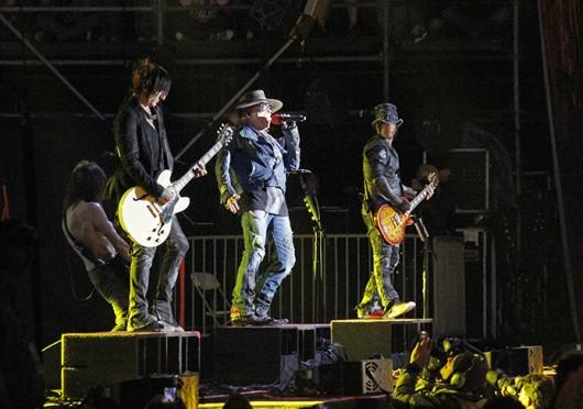 Guns N' Roses performs at Rock on the Range on May 16 at Columbus Crew Stadium. Credit: Jon McAllister / Asst. photo editor