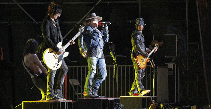 Guns N' Roses performs at Rock on the Range on May 16 at Columbus Crew Stadium. Credit: Jon McAllister / Asst. photo editor