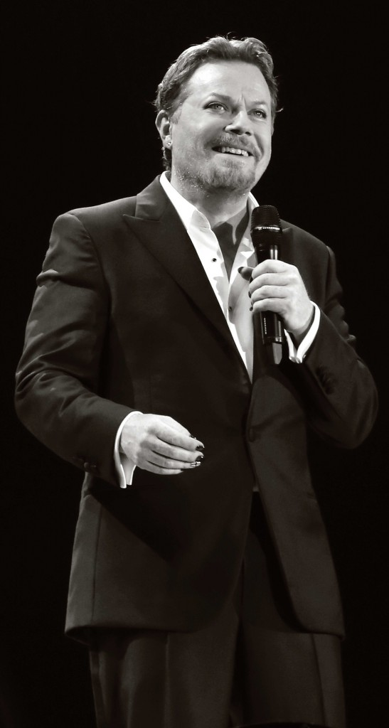 Eddie Izzard performs Force Majeure at the Echo Arena Liverpool in May 2013.