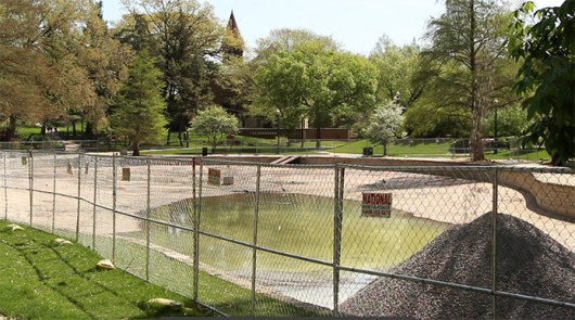 5 feet of gravel is set to be poured into Mirror Lake as an interim sustainability measure. Credit: Chelsea Spears / Assistant multimedia editor