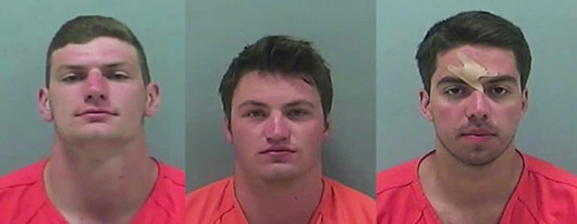 3 OSU students were arrested for burglary, theft of a vehicle near the Memorial Tournament. (From left to right) Samuel Cochran, Joseph Leonard, Carsten Raaum Credit: Courtesy of Tracy Whited