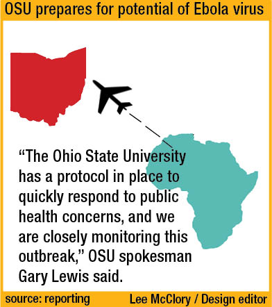 An Ohio State spokesman said OSU is ready if faced with a possible Ebola situation. Credit: Lee McClory / Design editor
