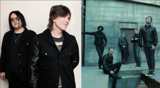 Goo Goo Dolls (left) and Plain White T's are set to perform at the LC Pavilion on Aug. 25. Credit: Courtesy of Warner Brothers Records and Hollywood Records