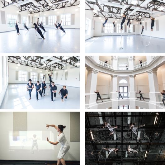 Dancers in OSU's Department of Dance perform in various spaces within Sullivant Hall. Credit: Courtesy of Nick Fancher